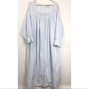 Light Cornflower Blue Eileen West Cotton Nightgown